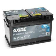 EXIDE Premium 72 Ah jobb+ EA722 akkumulátor