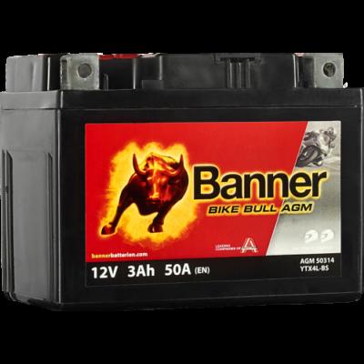 Banner Bike Bull AGM 12 V 3 Ah  ( YTX4L-BS ) akkumulátor