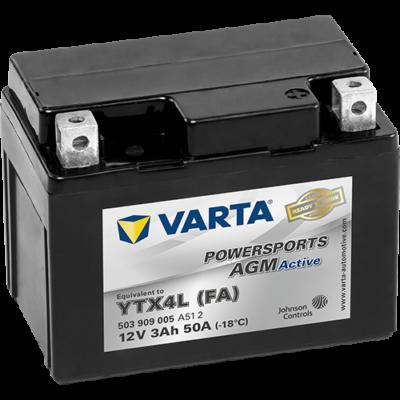 Varta Powersports AGM Active 3 Ah YTX4L-4 akkumulátor