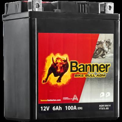 Banner Bike Bull AGM 12 V 6 Ah  ( YTX7L-BS ) akkumulátor