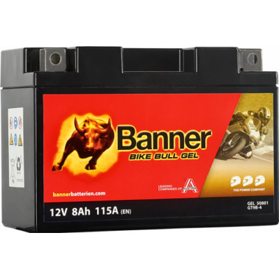 Banner Bike Bull GEL AGM+SLA 12 V 8 Ah  ( GT9B-4 ) akkumulátor