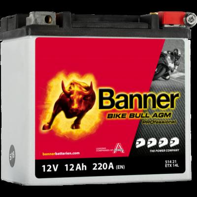 Banner Bike Bull Professional AGM+SLA 12 V 12 Ah jobb+ ( ETX14L ) akkumulátor