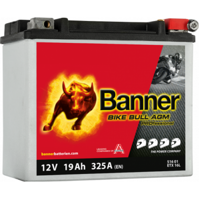 Banner Bike Bull Professional AGM+SLA 12 V 19 Ah jobb+ ( ETX16L ) akkumulátor