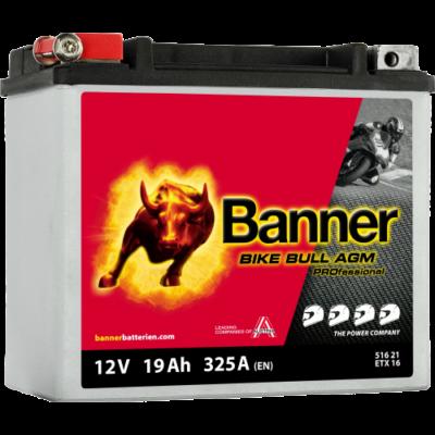 Banner Bike Bull Professional AGM+SLA 12 V 19 Ah bal+ ( ETX16) akkumulátor