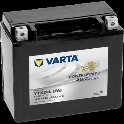 Varta Powersports AGM Active 18 Ah YTX20L-4 akkumulátor