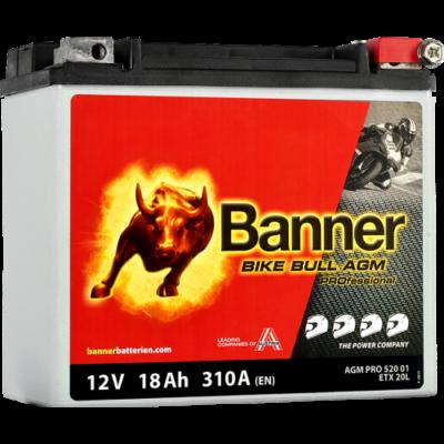 Banner Bike Bull Professional AGM+SLA 12 V 18 Ah jobb+ ( ETX20L ) akkumulátor