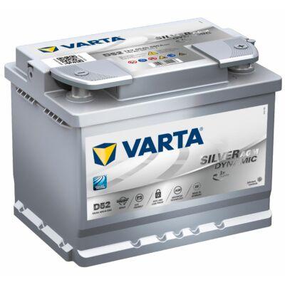 Varta Start-Stop AGM 60 Ah jobb+