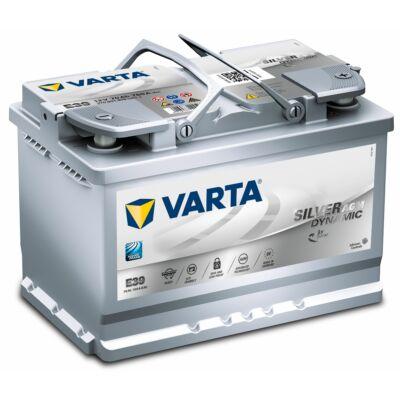 Varta Start-Stop AGM 70 Ah jobb+ 570901076D852 akkumulátor