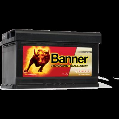 Banner Running Bull 80 Ah jobb+ 58001