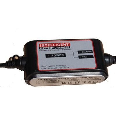 Carstel 12V/2A akkumulátor töltő