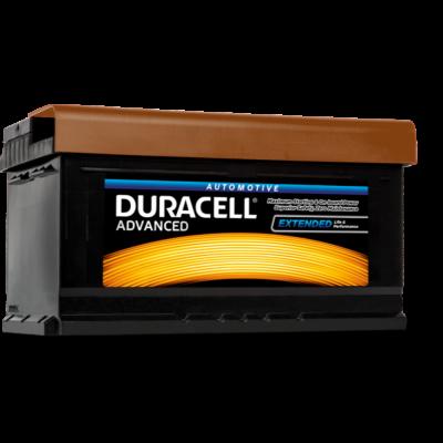 Duracell Advanced 80 AH Jobb+  DA80 akkumulátor