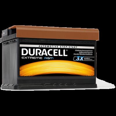 Duracell Extreme AGM 70 AH Jobb+  DE70AGM akkumulátor