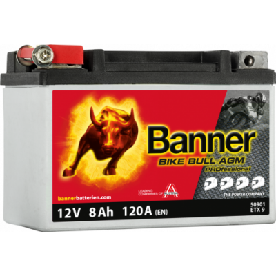 Banner Bike Bull Professional AGM+SLA 12 V 8 Ah bal+ ( ETX9 ) akkumulátor