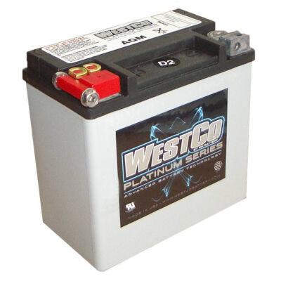 WestCo WCP14 12 AH AGM Bal+ (YTX14-BS, YTX16-BS, YB16B-A) akkumulátor