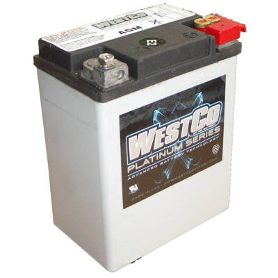 WestCo WCP15L 14 AH AGM Jobb+ (YTX14AHL-BS, YB14L-A/-B) akkumulátor