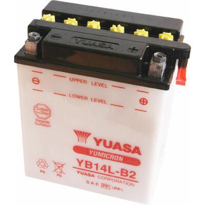 YUASA 12V 14 Ah YB14L-B2 jobb+