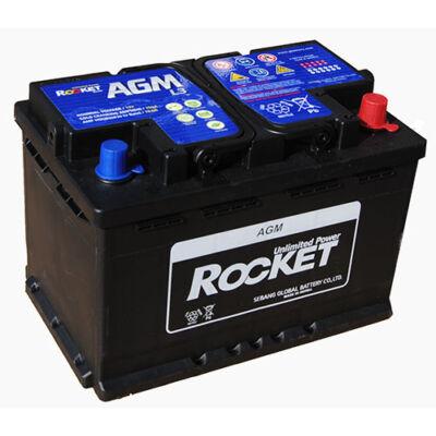 Rocket 70 Ah jobb+ AGM L3