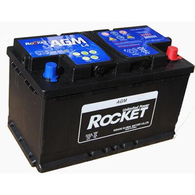 Rocket 80 Ah jobb+ AGM L4 akkumulátor