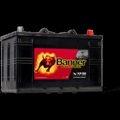 Banner Buffalo Bull 110 Ah jobb + akkumulátor (IVECO, talpas) 61011