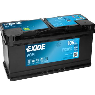 EXIDE AGM 105 Ah jobb+ EK1050 akkumulátor