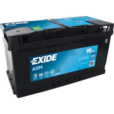 EXIDE AGM 95 Ah jobb+ EK950 akkumulátor