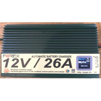 Forex  T1226 TFT akumulátor töltő 12V 26A