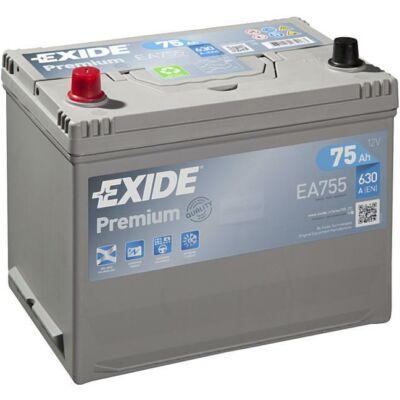 EXIDE Premium 75 Ah bal+ EA755 akkumulátor