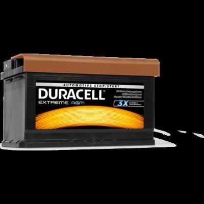 Duracell Extreme AGM 80 AH Jobb+  DE80AGM