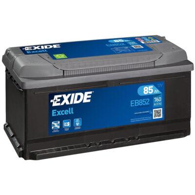 EXIDE Excell 85 Ah jobb+ EB852 akkumulátor