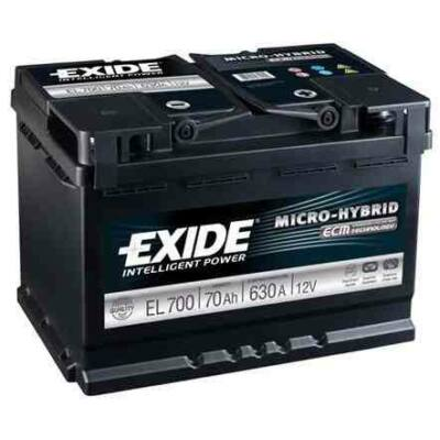 EXIDE Start-Stop 75 Ah jobb+ EL752 akkumulátor