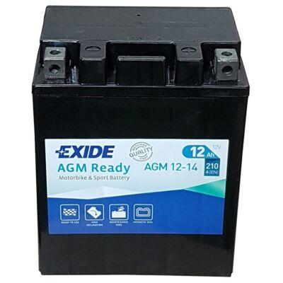 Exide 12V 12 Ah AGM jobb+ (AGM 12-14)