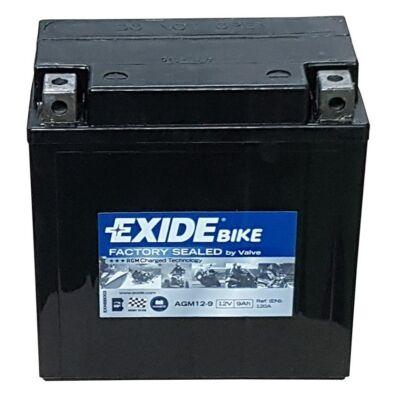 Exide 12V 9 Ah AGM bal+ (AGM 12-9) akkumulátor