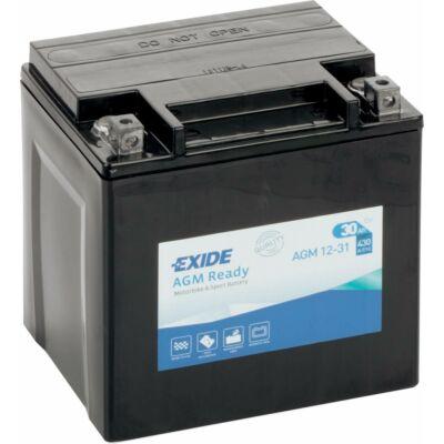 Exide 12V 30 Ah AGM jobb+ (AGM 12-31) akkumulátor