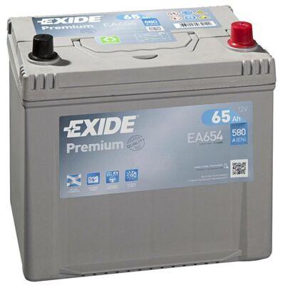 EXIDE Premium 65 Ah jobb+ EA654 akkumulátor