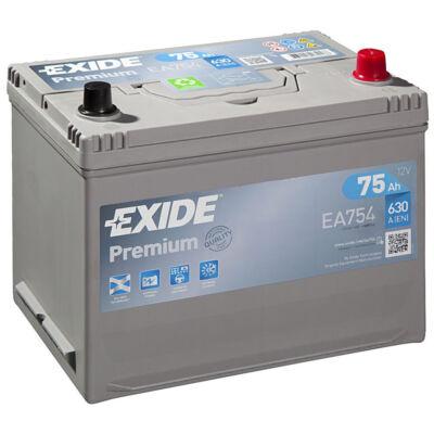 EXIDE Premium 75 Ah bal+ EA75 akkumulátor