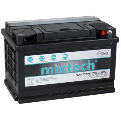 Mixtech MT 72 Ah jobb+ akkumulátor