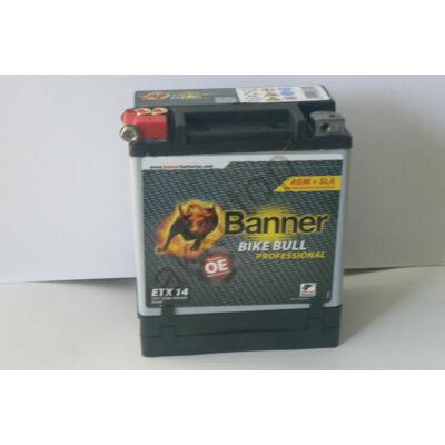 Banner Bike Bull Professional AGM+SLA 12 V 12 Ah bal+ ( ETX14 ) akkumulátor