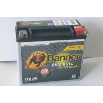 Banner Bike Bull Professional AGM+SLA 12 V 18 Ah jobb+ ( ETX20L )