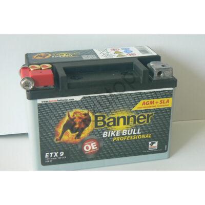 Banner Bike Bull Professional AGM+SLA 12 V 8 Ah bal+ ( ETX9 )