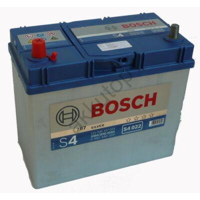 Bosch S4 45 Ah bal+ (vékony sarus)
