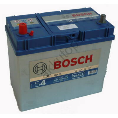 Bosch S4 45 Ah bal+ (vékony sarus) 0092S40220