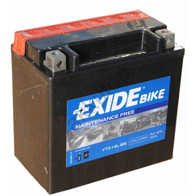 Exide 12V 12 Ah AGM jobb+ ( YTX14L-BS ) akkumulátor