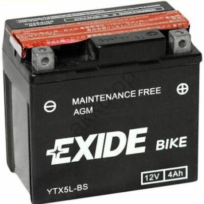 Exide 12V 4 Ah AGM jobb+ ( YTX5L-BS ) akkumulátor