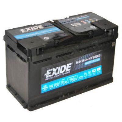 EXIDE AGM 70 Ah jobb+ EK700 akkumulátor