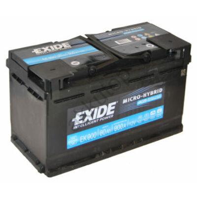 EXIDE AGM 80 Ah jobb+ EK800