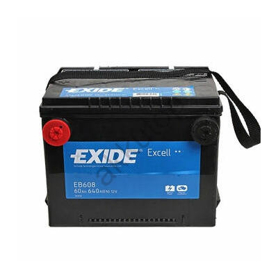 EXIDE Excell 60 Ah bal+ oldalcsatlakozós EB608