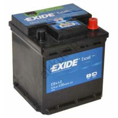 EXIDE Excell 44 Ah jobb+ (Punto) EB440