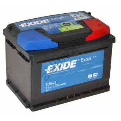 EXIDE Excell 60 Ah jobb+ EB602 akkumulátor