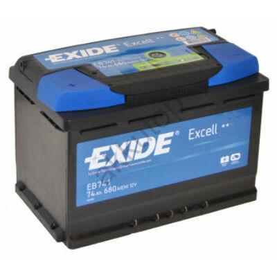 EXIDE Excell 74 Ah bal+ EB741 akkumulátor