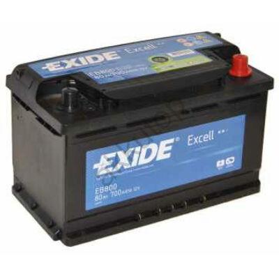 EXIDE Excell 80 Ah jobb+ EB802 akkumulátor